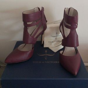 Purple Caged with gold heel by Pour La Victoire